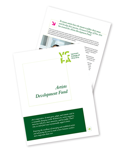 Artists Development Fund Brochure